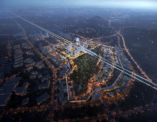 Foster + Partners has won the design competition for Guangming Hub