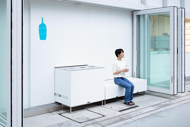 Blue Bottle Coffee NEWoMan YOKOHAMA Cafe Stand by Jo Nagasaka / Schemata Architects