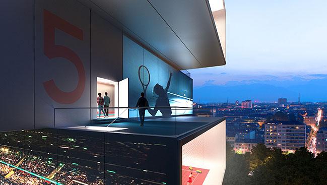 Play tennis in the sky - Playscraper by Carlo Ratti Associati