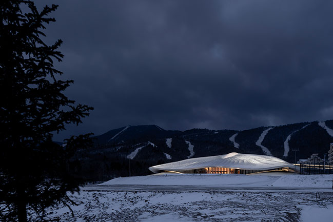 Yabuli Entrepreneurs Congress Center by MAD Architects nears completion