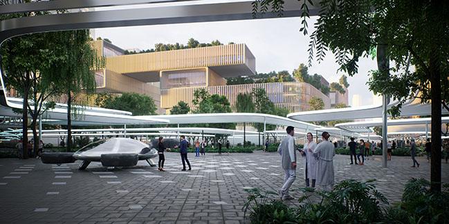 Huanggang Port Area masterplan by Zaha Hadid Architects