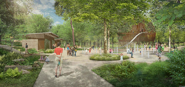 Clayton Korte and Ten Eyck reveal design updates to Pease Park in Austin