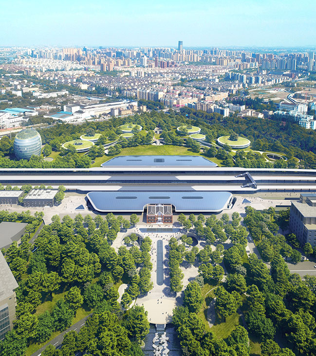 MAD unveils Jiaxing Train Station in the Forest