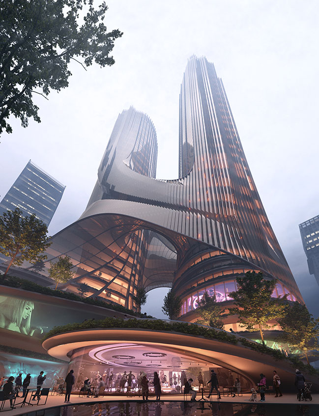 Tower C at Shenzhen Bay Super Headquarters Base by ZHA