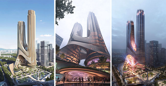 Tower C at Shenzhen Bay Super Headquarters Base by ZHA