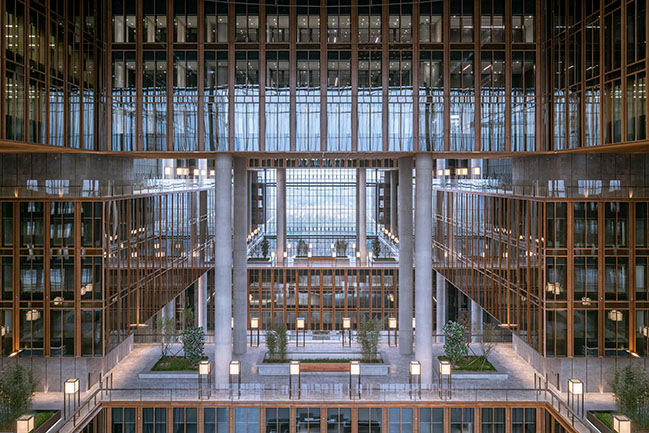 Landscape of Nations Asia Financial Center & AIIB Headquarters by gmp