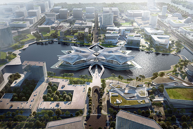 Zhuhai Jinwan Civic Art Centre by Zaha Hadid Architects