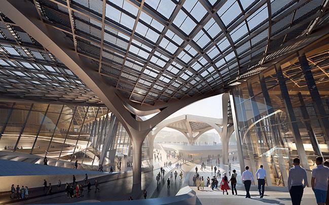 Zhuhai Jinwan Civic Art Centre by Zaha Hadid Architects