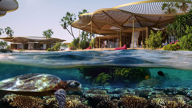 Foster + Partners revealed design for Shurayrah Island in the Red Sea