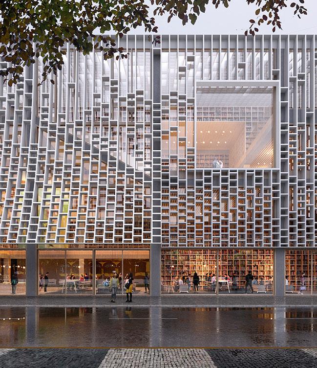 Macau Central Library by Mecanoo
