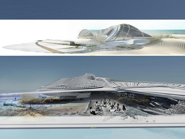 Recycled Ocean Plastic Resort by Margot Krasojević Architects