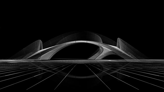 Striatus - the first of its kind 3D concrete printed arched bridge