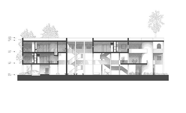Architensions designs a speculative cooperative fourplex in Los Angeles