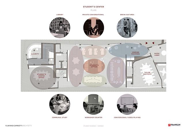 The new Franklin University Switzerland campus in Lugano by Flaviano Capriotti Architetti