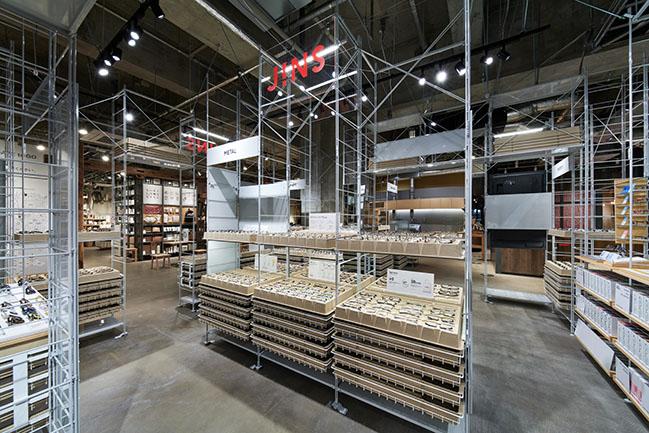 JINS Sharestar Hakodate shop by Jo Nagasaka / Schemata Architects