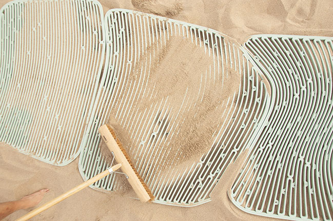 The New Raw crafts beach furniture from upcycled marine plastic waste in Greece