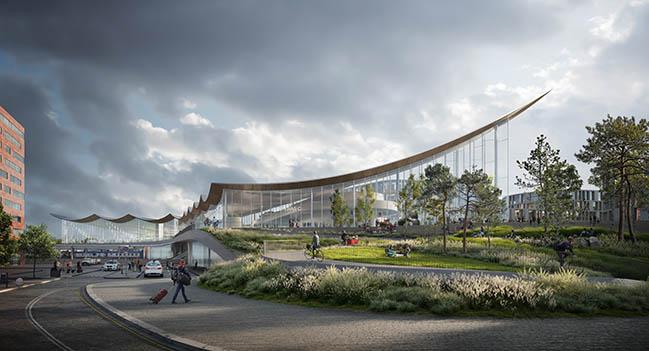 Västerås new Travel Center by Bjarke Ingels Group