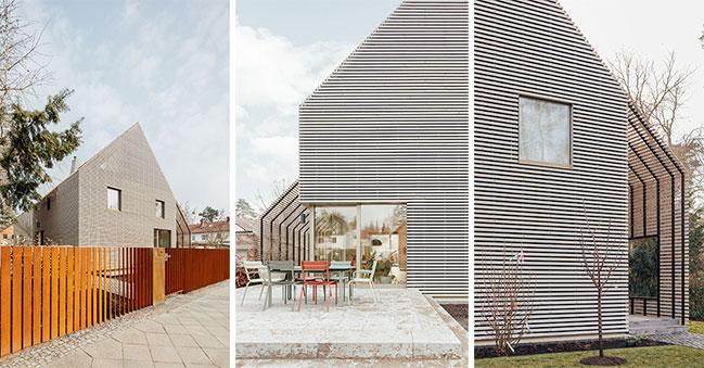 Pergola House: A wooden villa by rundzwei Architekten BDA in Berlin