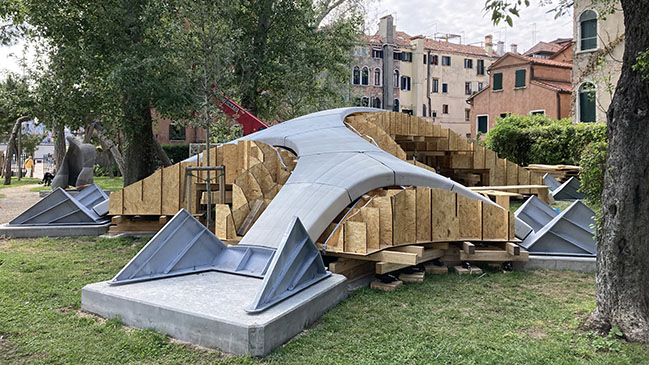 Striatus - A first of its kind 3D concrete printed arched bridge - now open