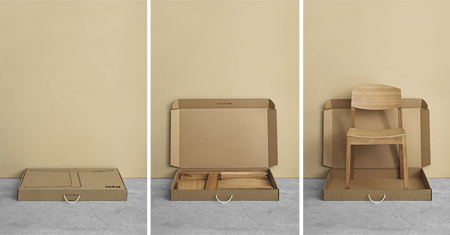 Bro: a new flat-pack wooden chair by Delo Design