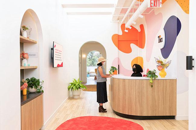 Alda Ly Architecture has designed a bold, vibrant space for Tia