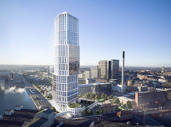 Mindet 6 by C.F. Møller Architects - Green light for new high-rise in Aarhus