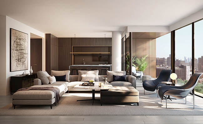 175 Chrystie: A new luxury boutique condominium building by ODA on New York's Lower East Side