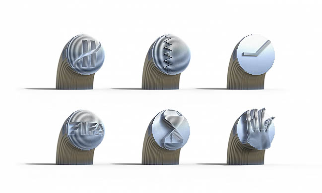 FIFA - 2022 World Cup Clock by Bjarke Ingels Group