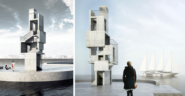 Cubes Aleorion Lighthouse by bo.M Architecture & Design Studio wins Architizer A+Awards 2021 Popular Choice Award