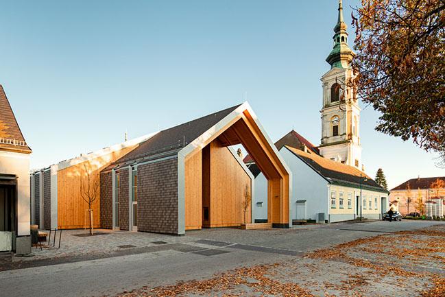 Community Center Großweikersdorf in Austria by Smartvoll Architects