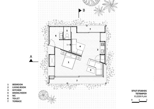 Tetra Pod by Stilt Studios
