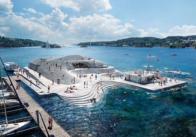 Snøhetta revives traditional harbor bath Knubben