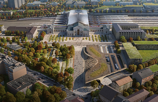 ZHA ranks first in design competition to renovate Vilnius railway station