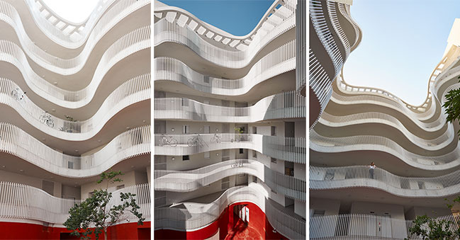 HQ Architects completes Fein 1 Central, a new apartment complex in Tel Aviv
