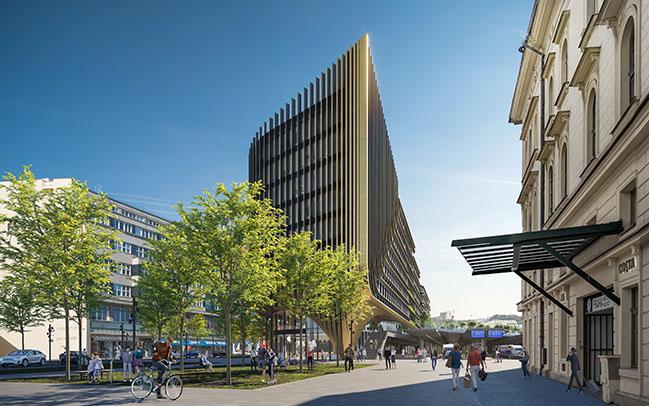 Masaryčka building in Prague by Zaha Hadid Architects