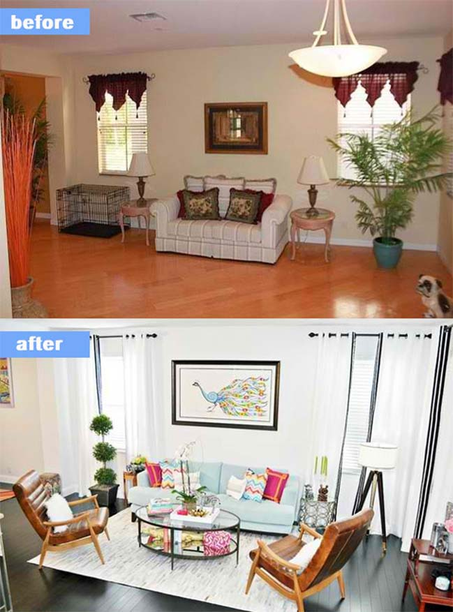 before and after living rooms 15 before and after living room designs 18143