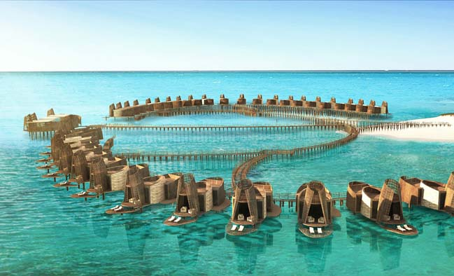 Luxury Hotel Inspired Mayan Architecture